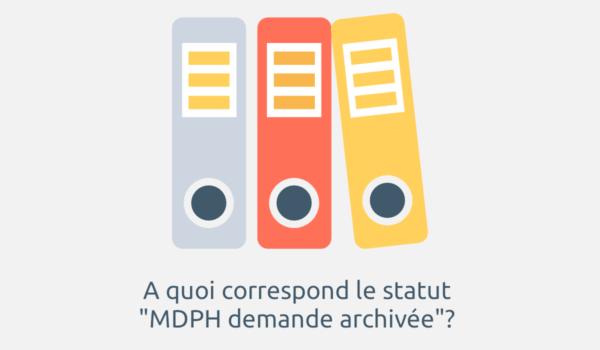 mdph demande archivée