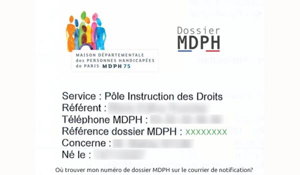 retrouver mon numéro de dossier MDPH