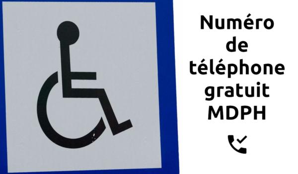 Numéro de téléphone gratuit MDPH